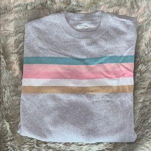 Grey w/ Colourful Stripes Sweatshirt